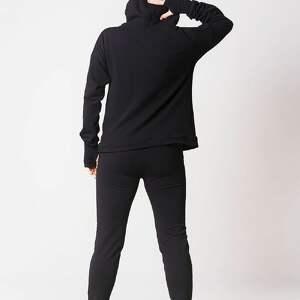 bluza z kapturem czarna, bawełna, wygoda, desing, nieyuzinkowe, styl, sport, pod