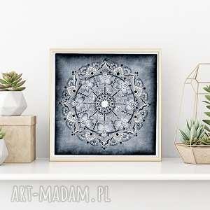Mandala lodowa 50x50cm, mandala, mandale, etno, sztuka, plakat, obraz