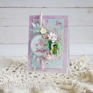 Prezent Kartka z jednorożcem, jednorożec, dla-dziewczynki, kartka-urodzinowa