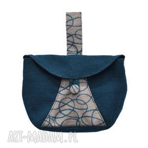 04-0006 turkusowa torebka kopertówka elegancka do ręki cuckoo, małe torebki