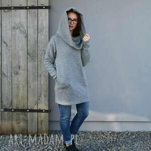 sweter wełniany gruby, ciepły, sweter, oversize, duże rozmiary, długi
