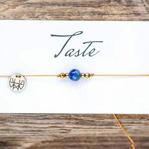 WHW Taste Lapis Lazuli, sznurkowa, sznureczkowa, delikatna, makrama, lapis, lazuli