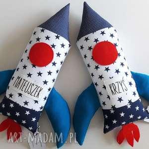 maskotki poduszka rakieta - personalizacja, poduszka, maskotka, rakieta, przytulanka