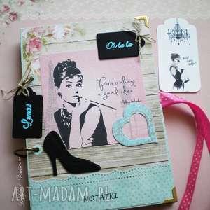 Retro notatnik dla miłośniczek niezapomnianej Audrey:), notes, audrey, tiffany, paris