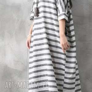 Prezent sukienka oversize w paski, oversize, prezent, sukienka, mama, plaża