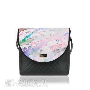 na ramię torebka puro 1503 spilled paints, damska, pikowana