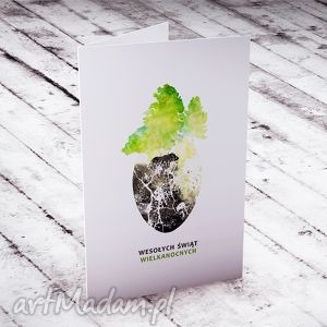 kartki karteczka wielkanocna - wiosenne przebudzenie, kartki, wielkanoc, życzenia