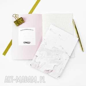 różowy marmurowy zeszyt, notes w kropki a5, bujo, journal, marmur