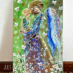 Dziecięca modlitwa 40x60 dom marina czajkowska aniol, dziecko