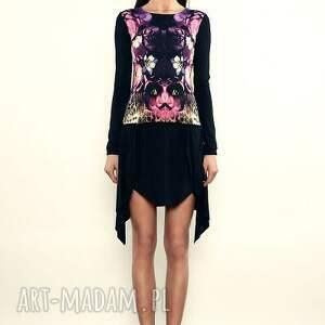 Sukienka mini z kolorowym printem, letnia, kolorowa, mini, print