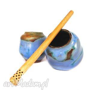 ręcznie wykonane ceramika matero v - czarki do yerba mate 2szt