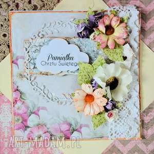 handmade scrapbooking kartki kartka - pamiątka chrztu świętego (3)