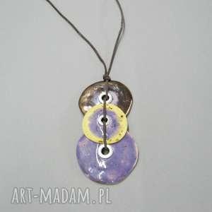 wisiorki wisior urok fioletu, wisior, biżuteria, ceramika, prezent, nowoczesny