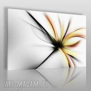 obraz na płótnie - abstrakcja kwiat nowoczesny 120x80 cm 55601, kwiat
