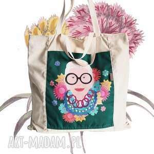 hand-made torba płócienna - pure iris