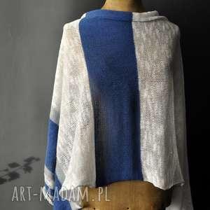 hand-made szaliki letni szal len bawełma
