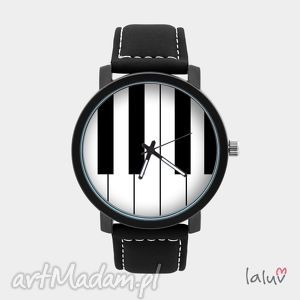 Prezent Zegarek męski z grafiką PIANO, prezent, dla, faceta, mężczyzny, muzyka