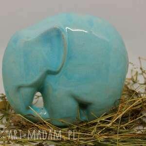 hand-made ceramika figurka słoń ceramiczny na szczęście