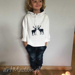 bluza z kapturem , wygodna, zimowa, świąteczna, ciepła, nadruk, prezent ubrania