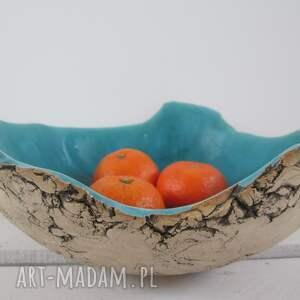 Sardynia artystyczna miska na owoce, miska-ceramiczna, dekoracyjna-miska