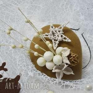 świąteczne prezenty TOCZEK ŚWIĄTECZNY, toczek, filc, fascynator, święta