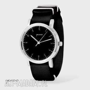 zegarek, bransoletka - simple elegance czarny, nato, bransoletka, nato
