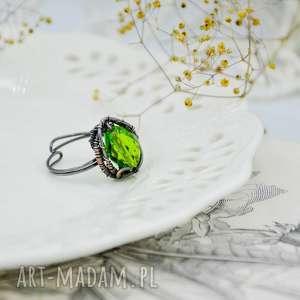 meadow green - pierścionek, pierścionek duży, z miedzi, regulowany
