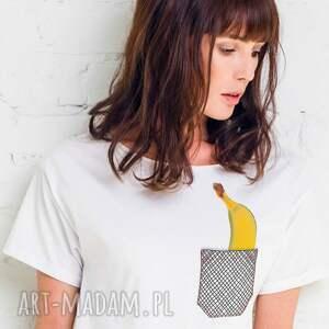 banana in pocket oversize t-shirt, oversize