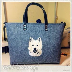 royal trend west highland white terrier, pies, motywzwierzęcy, haft, modnatorebka