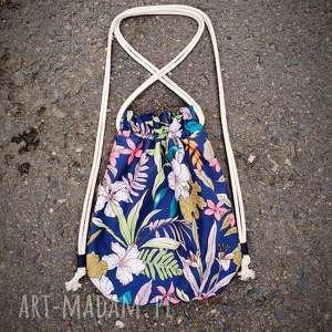 plecak worek mini kwiaty