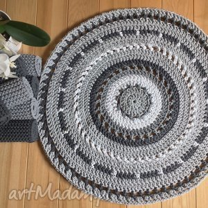 okrągły dywan azur - 120 cm zamówiony, dywan, ze sznurka, ażurowy