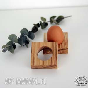 podkładka pod jajko - kwadrat, podkładka, drewniane, podstawka