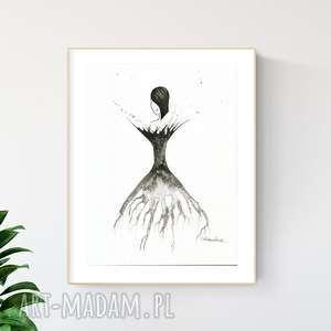 grafika 30x40 cm wykonana ręcznie, plakat, abstrakcja, elegancki minimalizm, obraz