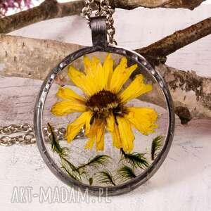 naszyjniki z1116 naszyjnik z suszonymi kwiatami herbarium