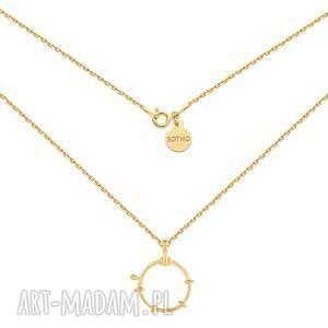 złoty naszyjnik z ozdobnym kółkiem sotho - pozłacane