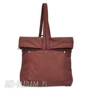 29-0001 bordowa torebka plecak 2w1 damski do szkoły swan, plecakotorebka