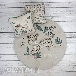 pokoik dziecka gepard welurowa mata do zabawy, gepard, dywanik
