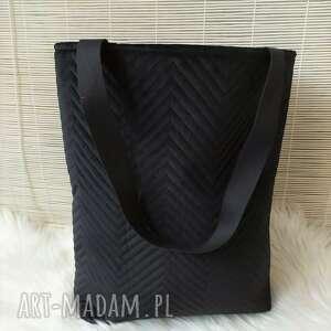 fabryqaprzytulanek torba shopperka czarna, torba, torebka, shopper