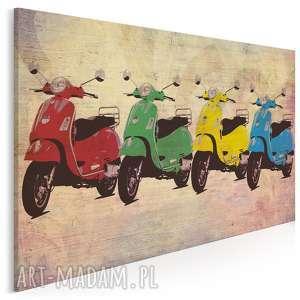 obraz na płótnie - vespa kolory 120x80 cm 28701, vespa, skuter, pojazd