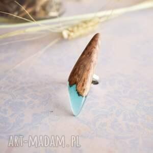 lago - pierścionek z drewna i żywicy