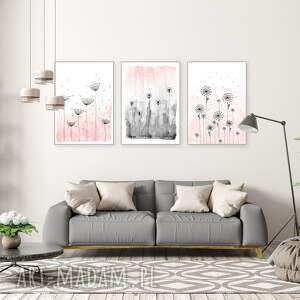 zestaw 3 prac a1, plakat, kwiaty, obraz, sztuka, ilustracja, wyjątkowe