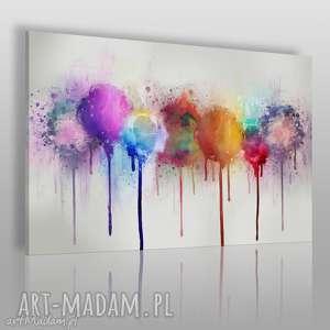obrazy obraz na płótnie - abstrakcja kolory 120x80 cm 66101, abstrakcja, nowoczesny