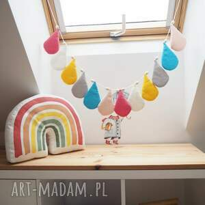 handmade pokoik dziecka dekoracyjna girlanda kropelki