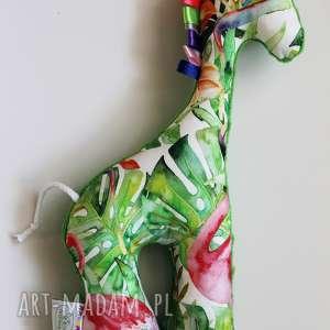 Żyrafka Flamingi / Zielony, maskotka, przytulanka, dziecko,