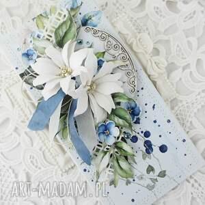 scrapbooking kartki kartka z niebieskim - w pudełku, urodziny, gratulacje
