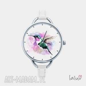 Prezent Zegarek z grafiką KOLIBER, prezent, ptak, nektar, kwiat, egzotyczny, kolorowy