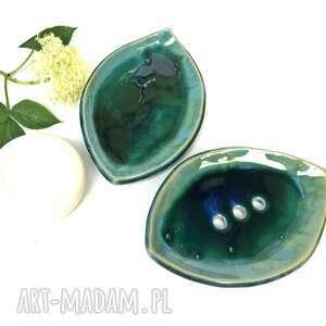 """Ceramiczna mydelniczka ręcznie robiona """"głębiny"""" ceramika"""