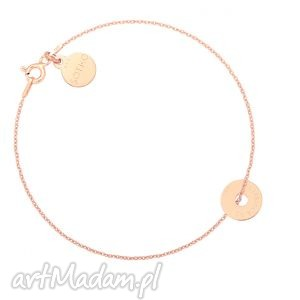 sotho bransoletka z różowego złota malutką karmą be yourself
