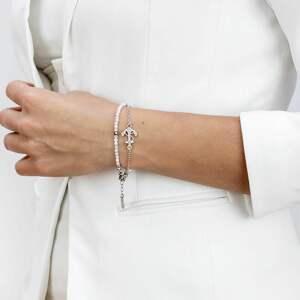 bransoletki z kamieni księżycowych i srebra, biżuteria na prezent