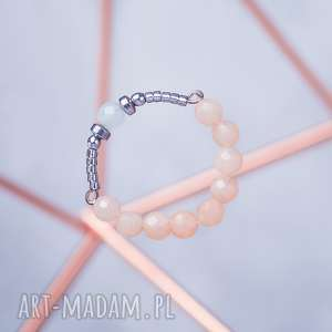 WHW High Ring - Sun Beam, pierścionek, fasetowany, srebrny, jadeit, jadeity, hematyt